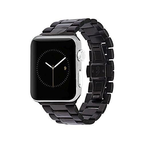 - Case-Mate - Metal Linked Band - 42mm 44mm Stainless Steel Apple Watch Band - Series 4, Series 3, Series 2, Series 1 - Black