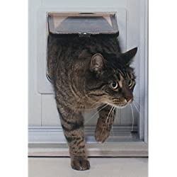 Cat Flap Patio PetDoor Color: White