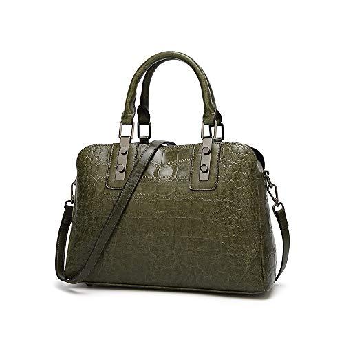 Fourre Femme Nouveau Vert Vintage Audburn Bandoulière Pour À Capacité Sac Grande tout Shopper Casual Messenger X1XCw8q