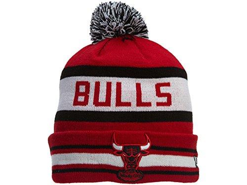 New Era Chicago Bulls Pom Pom Mens Style: NE-POMPOM-RED/BLK/WHT Size: OS (New Era Beanie)