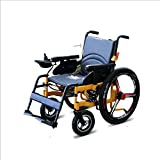 Electric Wheelchair Folding Portable Intelligent Automatic Lightweight Elderly Mobility Scooter Wheelchair Accessory,Gray