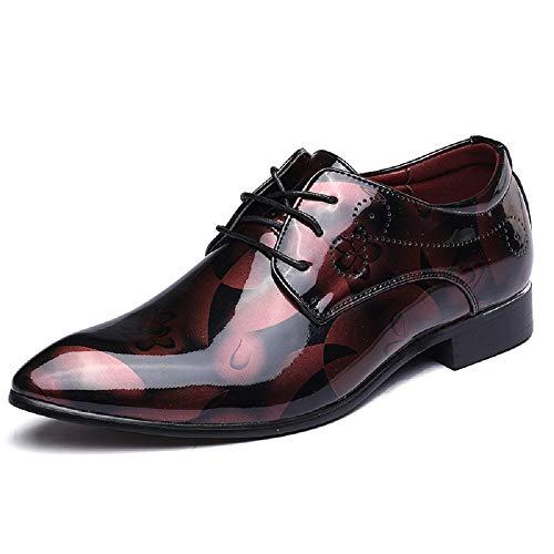 必要狂ったいつかメンズファッションレザーシューズ大きいサイズの男性の靴明るいレザーファッションビジネスシューズヨーロッパとアメリカのファッションの潮の靴
