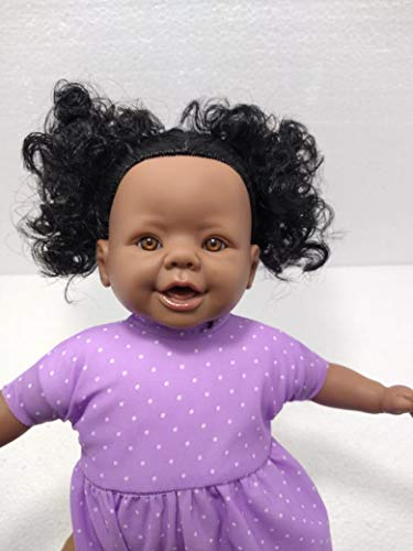 Boneca Bebê Diná Negra Linda Super Realista