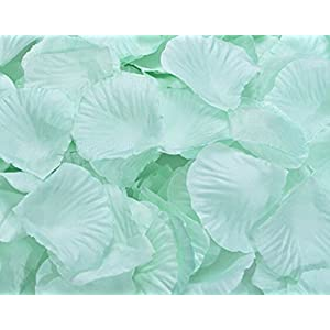 Flyusa 1000pcs Fabric Silk Rose Flower Petals Wedding Table Scaters Confetti Bridal Party Flower Girl Decoration 84