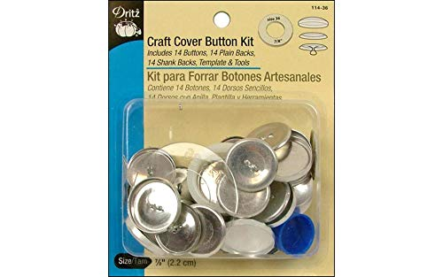 Dritz 114-36 Craft Cover Button Kit with Tools, Size 36-7/8-Inch, -