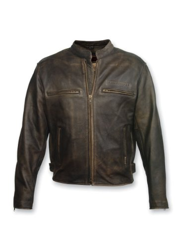 Milwaukee Motorcycle Clothing Company Men's Crazy Horse Jacket (Distressed Black, XXX-Large) ()