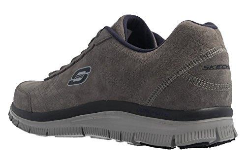 sneaker bassa uomo Charcoal Charcoal pelle Skechers scamosciata wx7IqwR