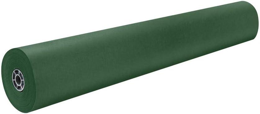 Pacon Rainbow Lightweight Duo-Finish Kraft Paper Roll, 3-Feet by 1000-Feet, Emerald Green (63140)