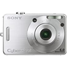 Sony Cybershot DSCW50 6MP Digital Camera with  3x Optical Zoom