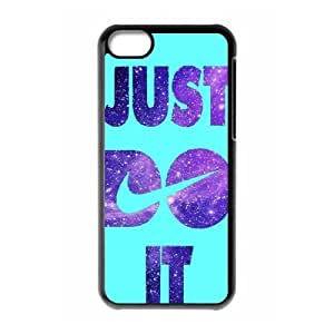 Hard Plastic Cover Case NIKE logo Just Do It iPhone 5C Case by lolosakes