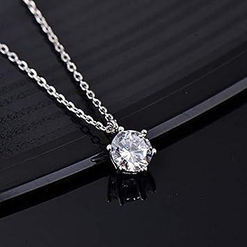 Davitu Designer Fashion 925 Sterling Silver Jewelry 3A Cubic Zirconia Party Necklace Metal Color: Gold-Color, Length: 45cm