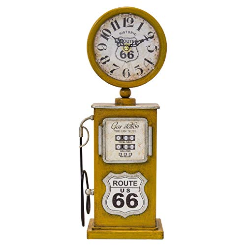 (Yosemite Home Decor Route 66 Table Top Clock in Yellow)