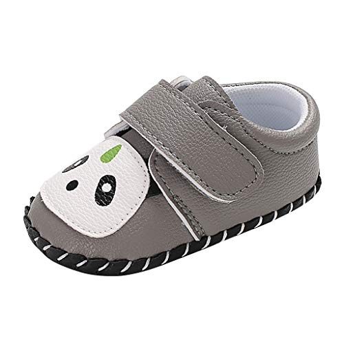 DealinM  Kid's Shoes,Toddler Children Infant Baby Boys Girl Soft Sole Cartoon Panda Prewalker Single Rubber Sole Shoes Gray