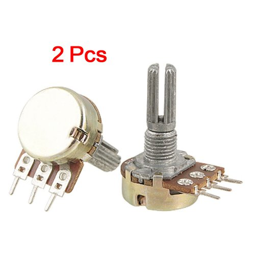 16mm Split Shaft (SODIAL(R) 2 Pcs B10K 10K ohm Single Linear Taper Rotary Potentiometers)