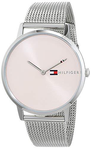 Tommy Hilfiger Damen Analog Quarz Uhr mit Edelstahl Armband 1781970