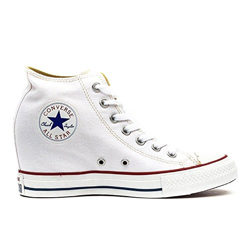 Converse Mujeres Lux Mid Top Wedge Skateboard Zapatos Dress Blues