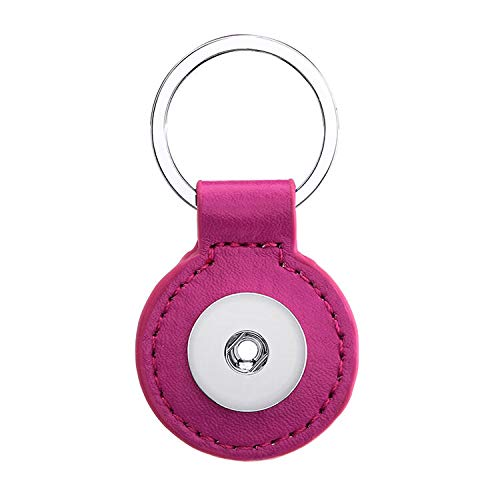 2017 1pcs Key Chain for 18mm noosa button snap charm Round Rose Red]()