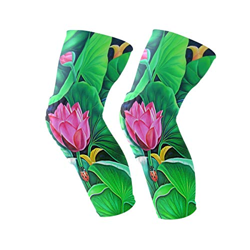 Knee Sleeve Murali Butterfly Full Leg Brace Compression Long Sleeves Pant Running, Jogging, Sports, Crossfit, Basketball, Joint Pain Relief, Men and Women 1 Pair -