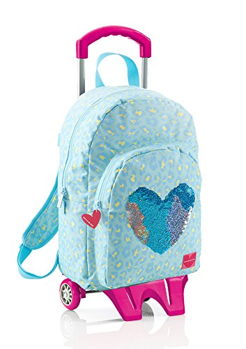 Agatha Ruiz De La Prada-Large Backpack with Cart, Leather Sequins Miquel-rius - Prada Kids