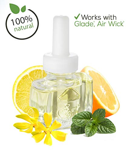 (3 Pack) - 100% Natural Citrus Floral Fusion Plug in Refill - Fits Glade®, Air Wick® and More