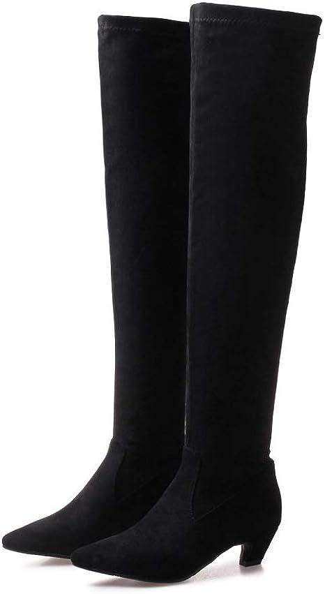bota de caña alta mujer ajustada