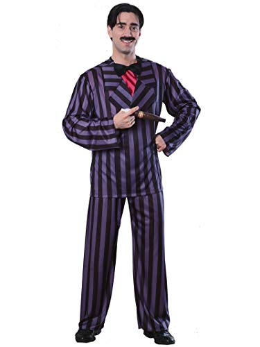 Rubie's Gomez Addams Family Adult Costume, Black, X-Large]()