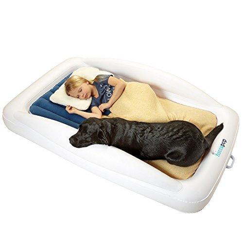 hiccapop bebé Travel Bed con parachoques de seguridad | Portable Blow Up inflable colchón para cama Niños con construido...