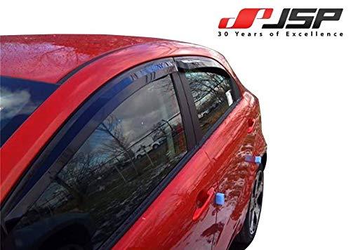 - JSP Window Vent Deflector Rain Guard Visor Compatible with 2012-2017 KIA Rio Hatchback Smoke 218017