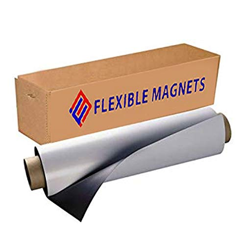 Flexible Magnets Sheet with Adhesive, 30mil Thick. Ideal for DIY Projects at Home - Office - Auto - Shop - Crafts and More! (2' x 5')
