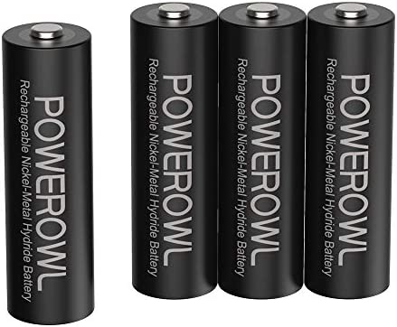 2800mAh High Capacity Double A Batteries 1.2V NiMH Low Self Discharge Pack of 12 POWEROWL Rechargeable AA Batteries