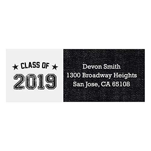 Custom All Star Grad - Personalized 2019 Graduation Party Return Address Labels - Set of 30