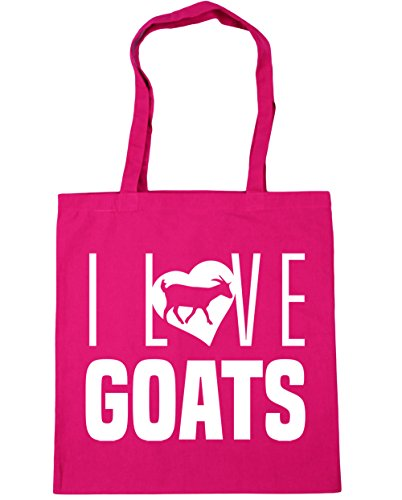 Tote 42cm Love Fuchsia Shopping litres Gym Bag x38cm I Beach Goats 10 HippoWarehouse t8U64nq5