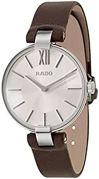 Rado Coupole M Silver Dial Brown Leather Ladies Watch