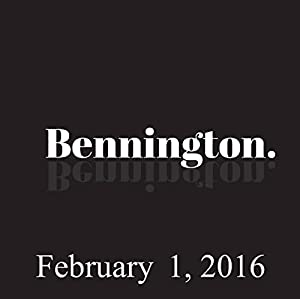 Bennington, February 1, 2016 Radio/TV Program