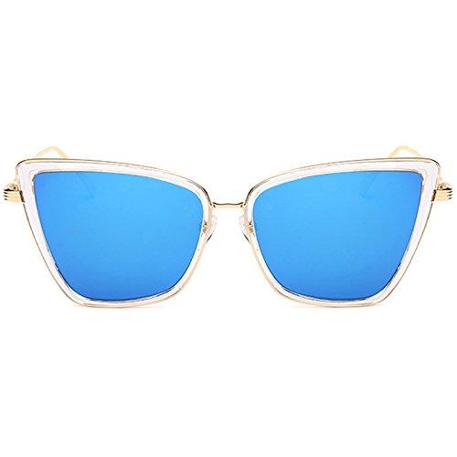 Marco Sol de de Sobredimensionado TL Gafas como con Sol cateye Metal PICTURE Gafas Imagen Sunglasses AS Mujer Espejo Tonos Mujeres de para Gato Las de Ojo de Sol Gafas rgREqx8wRS