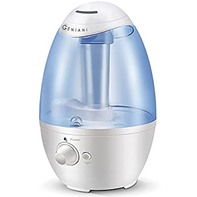 Ultrasonic Cool Mist Humidifier - Best Air Humidifiers for Bedroom/Living Room/Baby with Night Light - Whole House Solution - Large 3L Water Tank - Auto Shut Off and Filter-Free - 2 YEAR WARRANTY