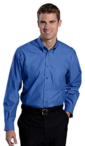 Ed Garments Men'S Button Down Traditional Dress Shirt-French Blue-Xl-33