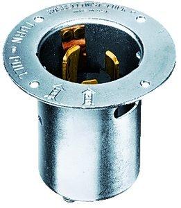 50A 250VDC/600VAC 3P4W TWIST-LOCK Flanged Inlet