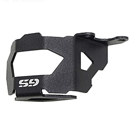 DishKooker Motorcycle Front Brake Pump Fluid Reservoir Guard Protector Oil Cup Cover for B-MW F800GS F700GS F650GS ( Black )