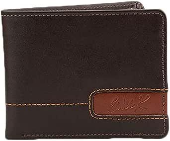 SevenK Leather Flap Wallets Dark Brown For Men