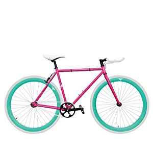 Zycle Fix ZF-GMDR-52 Gum Drop Fixed Gear Bike, 52cm/One Size Frame