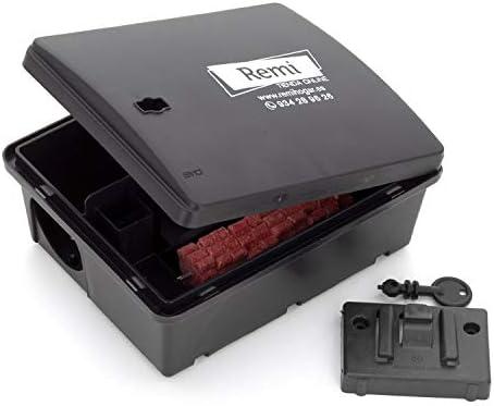 Pack de 2 Portacebos con Raticida | 2 Cajas para poner veneno de Rata y Ratón 【Incluye caja raticida】: Amazon.es: Jardín