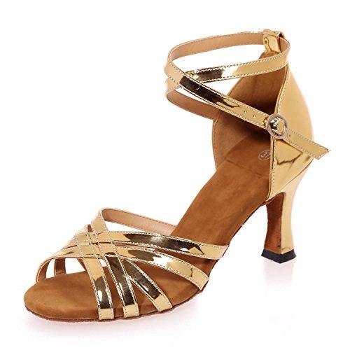 Cubaine avec Danse De yellow L FéMinine Chaussures Paillettes Latine YC PéTillantes Personnalisé gwHWFzq8x