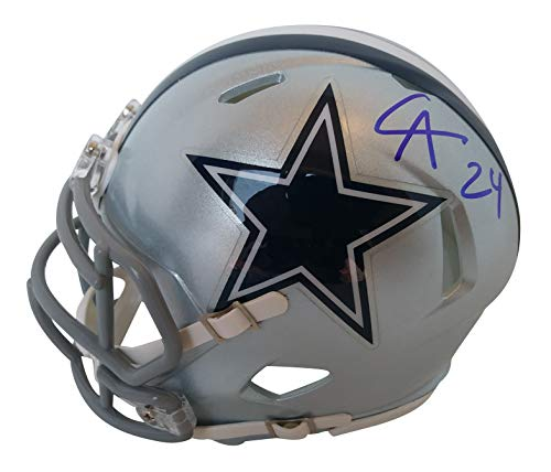 Dallas Cowboys Chidobe Awuzie Signed Hand Autographed Riddell Speed Style Mini Football Helmet with Proof Photo of Signing and COA