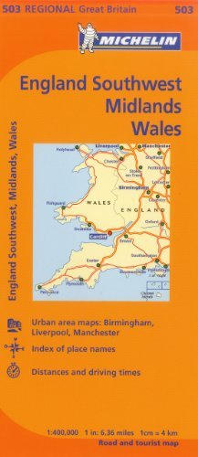 Michelin Map Great Britain: Wales, The Midlands, South West England 503 (Maps/Regional (Michelin)) by Michelin Travel & Lifestyle (2012-08-16)