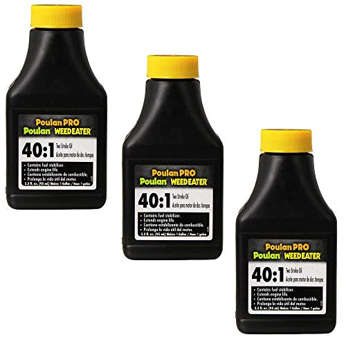 Poulan 952030133 40:1 2 Cycle Oil, 3.2-Ounce Bottle (3 Pack)