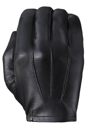 Weather Unlined Glove - Tough Gloves Men's Ultra Thin Patrol Cabretta unlined leather gloves Size 9 Color Black