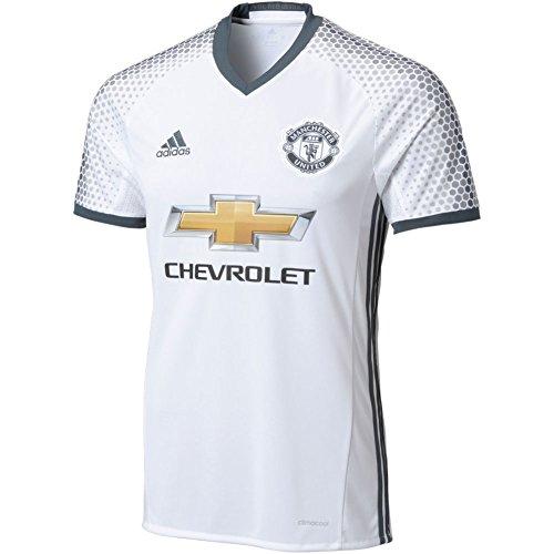 Adidas Men's Manchester United Soccer Jersey 3rd Kit White MSRP $90 (L) (United Manchester Kit)