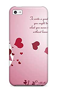 Anti-scratch And Shatterproof Love Letters Phone Case For Iphone 5c/ High Quality Tpu Case