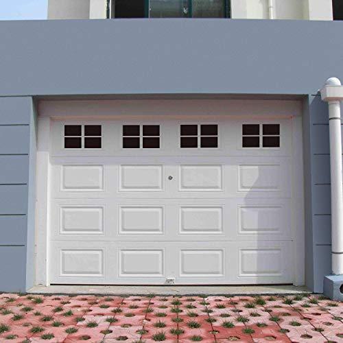 16 Packs 6 x 4 inches Garage Door Magnetic Panels, One Car Garage Door Decorative Faux Black Window Decals, Weatherproof Magnets Hardware Metal Garage Door Windows (1 Car Garage) (Panels Decorative Window)